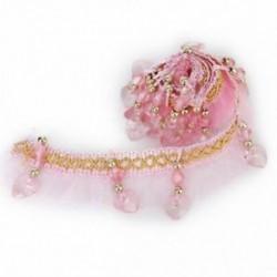Dekoratív gyöngyök rózsaszín Pompom csipke függönyök F1I8 G4M4 F7L1