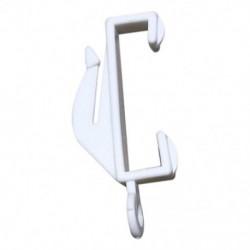 20X fehér műanyag kendő függönyvasúti siklóernyők - Fehér sín futóhorgok A8I7