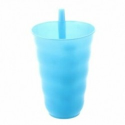 műanyag szalma csésze hideg csészék Juice csésze kék F3U6