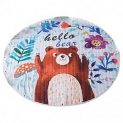 1X (gyerekjáték szőnyeg aranyos rajzfilm medve szőnyeg hátulról nagyszerű óvodai baba, Parfe O4F5