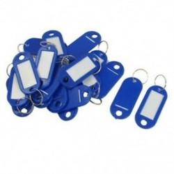 20 db kulcsazonosító címke Címkék Osztott gyűrű kulcstartó kulcstartó kék O4Q8
