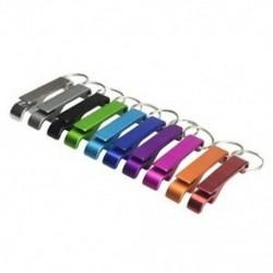 10 DB Alumínium sörösüveg-palack-nyitó kulcstartó klasszikus mini-palack-nyitógombok Colle M8K2