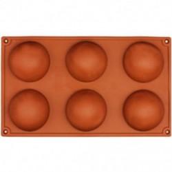 6 adagos félgömb alakú szilikon sütőforma - W0K1