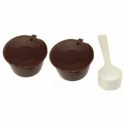 2X (i cafilas újratölthető kávékapszula Nescafe Dolce Gusto újrafelhasználható Ca Y3T6-hoz