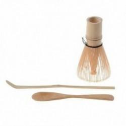 Japán Matcha teáskészlet (3 db) - Matcha bambusz habverő kanál, -Teremon B1Y2