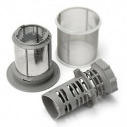 Kétrészes mosogatógép hálószűrő-készlet szürke PP Bosch mosogatógéphez 427903 17074 D1U8