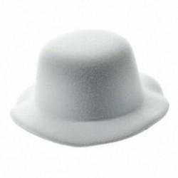 Női mini kalap lenyűgöző burlesque hajtű fehér fehér U7P3