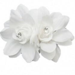 fehér - Női divat virágos hajcsipesz hajtű menyasszonyi esküvői party haj Accessori A1B7