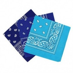 Királyi kék és ég kék és ... - 1X (3 bandana készlet Paisley férfi és nő, 57 x 57 cm P4O8)