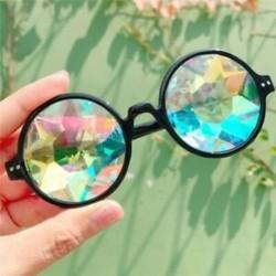 Fekete Kaleidoszkóp napszemüveg - Trendi unisex viselet - Q4J4