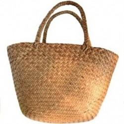 Hétköznapi szalmás táska, fonott fonott táska, női fonott kézitáska a kerthez J8Y4