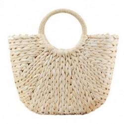 Női szalma kézi táska nagy vállú táska vödör nyári táskák Women Tas P6L8