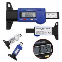 1x Féknyereg autó digitális gumiabroncs-gumiabroncs-futófelület mélységmérő mérő féknyereg LCD kijelző 0-25mm
