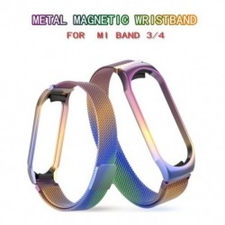 1x Mi Band 3/4 heveder xiaomi  Mi Band 3/4 karkötő csuklópánt fém mágneses heveder tok szíj