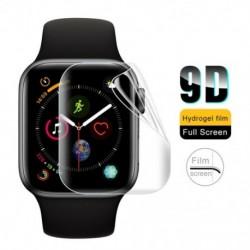 1x Edzett üveg képernyővédő fólia Apple Watch Series 4 44mm 9D teljes képernyővédő hidrogél filmhez, kompatibilis az