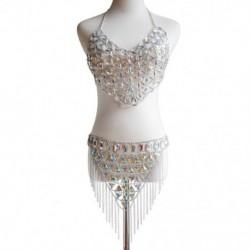 1x Vintage stílusú Strandparti fürdőruha strasszos ezüst színű bikini női  fürdőruha ékszer