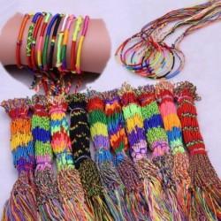 100db kézzel készített többszínű karköt barkács fonal lánc