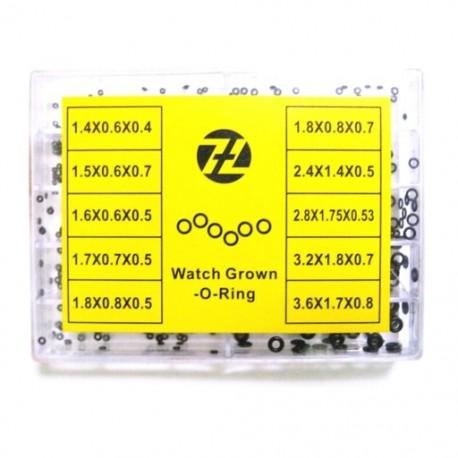 1000 darabos mini gumi alátét vízálló O-gyűrű óra tömítésekhez