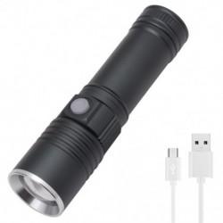 1x Zoomolható XML T6 LED zseblámpa halászati járőr USB tölthető hordozható vízálló fény lámpa zseblámpa