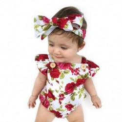 1x Baba lány gyönyörű  újszülött pamut aranyos virágos ruha fejpánttal