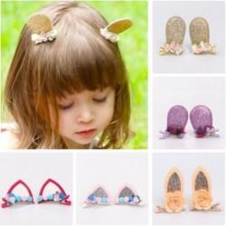 1pár Lány kislány gyermek  csillogó nyuszi fül hajcsatok jelmez kiegészítő alkalmi