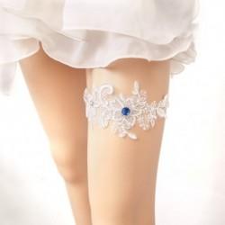 1x virágmintás divatos harisnyakötő eskövő