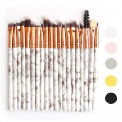 20 db színes kozmetikai alapozó szemhélyárnyaló smink ecset kefe szett készlet