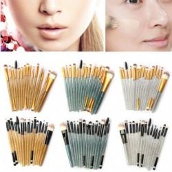 15db színes kozmetikai alapozó szemhélyárnyaló smink ecset kefe szett készlet