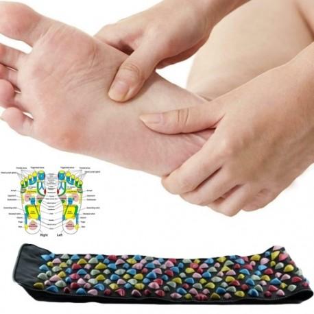 1x 35 * 175 cm-es lábmasszírozó elősegíti a vérkeringést a láb reflexológiájában.