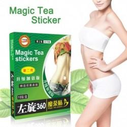 10 db / doboz mágikus tea matricák alvás matricák zsírégető karcsúsító fogyás paszta vékony derék javítás