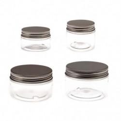 1x 100ml utazási kozmetikai üres üveg átlátszó üvegedény smink tároló