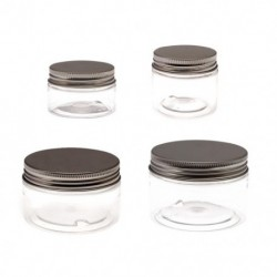 1x 50ml utazási kozmetikai üres üveg átlátszó üvegedény smink tároló