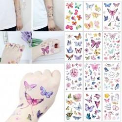 1x Színes pillangó tetoválás tettoo tewtkó test dísz matrica