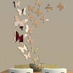 12db-os 3D pillangó tükör hatású falimatrica szoba gyerekszoba nappali