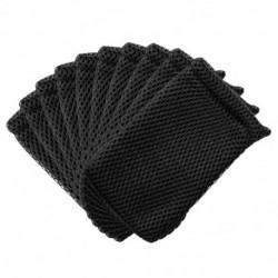 1db 9 * 13 cm-es hálós húzózsinór tasak digitális termékek táskák promóciós ajándékok fekete mackup szivacs táska