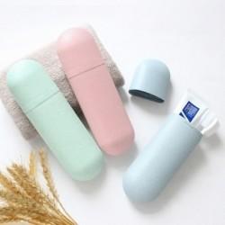 1x Fogkefetartó kozmetikai kapszula utazási tok szervező  hordozható kozmetikai tok fürdőszoba szervező fogkefe