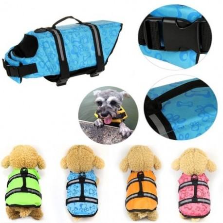 1x Kutya mentőmellény Kisállatbiztonsági úszás segítő állítható mellény L