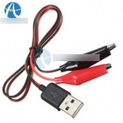 Alligátor tesztkapcsok Bekötés az USB-hez csatlakozó tápegység kábel 60cm
