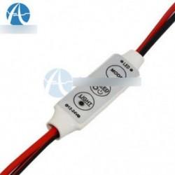 Mini 12V-os LED-csíkvilágítás-szabályozó a kikapcsolt kapcsolóval 3528 5050-re