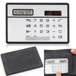 8 számjegy Ultra vékony Mini karcsú hitelkártya Solar Power Pocket számológép W