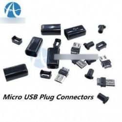 10db DIY Micro USB-dugaszoló csatlakozó készlet fekete / fekete