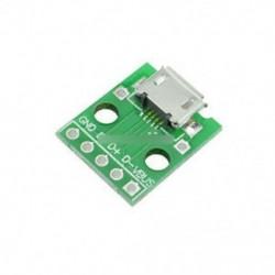 2db női MICRO USB DIP 5-pólusú Pinpanel 2,54 mm-es micro USB típus