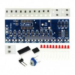 3. tétel - NE555   CD4017 LCD fény vízkészlet DIY készlet Elektronikus modul ICSK057A Piros