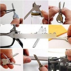 6-in-1 Utili kulcs eszköz kulcstartó többfunkciós rozsdamentes acél kulcs AL
