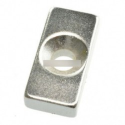 10PCS N50 20x10x5mm (lyukkal) - 5 / 10db Super Round Erős hűtőszekrény mágnesek ritkaföldfém neodímium mágnes N50 N52