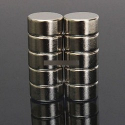 10PCS N52 10x 5mm - 5 / 10db Super Round Erős hűtőszekrény mágnesek ritkaföldfém neodímium mágnes N50 N52