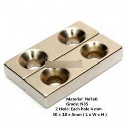 5db N35 30x10x5mm (2 db ... - 5 / 10db Super Round Erős hűtőszekrény mágnesek ritkaföldfém neodímium mágnes N50 N52