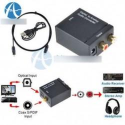 Audio Converter adapter - 3,5 mm-es optikai koaxiális Toslink digitális és analóg audió átalakító adapter RCA L / R
