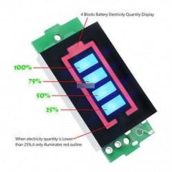 3S lítium akkumulátor kapacitásjelző modul 12.6V kék kijelző teljesítménymérő Új