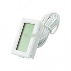 Fehér akvárium hőmérsékletmérő LCD hőmérő a T110 TPM-10 haltartályhoz 2m